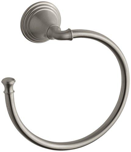 Towel Ring by KOHLER, Bathroom Towel Ring, Devonshire Collection, Vibrant Brushed Nickel, K-10557-BN