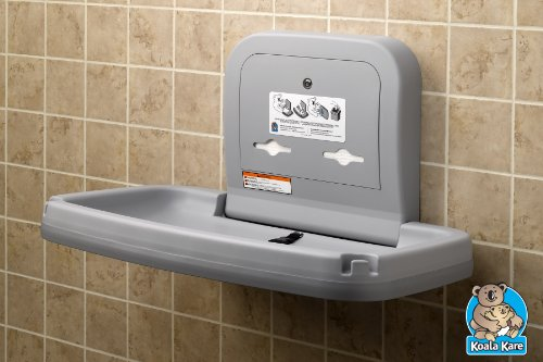 Koala Kare Horizontal Wall Mounted Baby Changing Station, Grey Package deal Dimensions: 23.5 x 35.2 x 22.zero inches