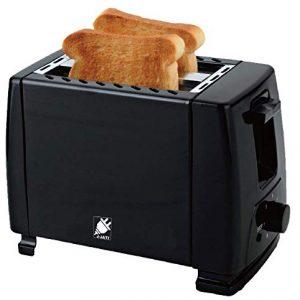J-Jati Toaster Pop up Bread Toaster, 2 Slice Bread Toaster, 7 Browning levels, Crumb Tray, 700 Watt, Auto Pop Up, and Auto Shut off. Wide Slot Pop up Bread Toaster, TS007, Black