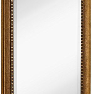 Hamilton Hills New Large Transitional Rectangle Wall Mirror | Luxury Designer Accented Frame | Solid Beveled Glass | Made in USA | Vanity, Bedroom, or Bathroom | Hangs Horizontal or Vertical