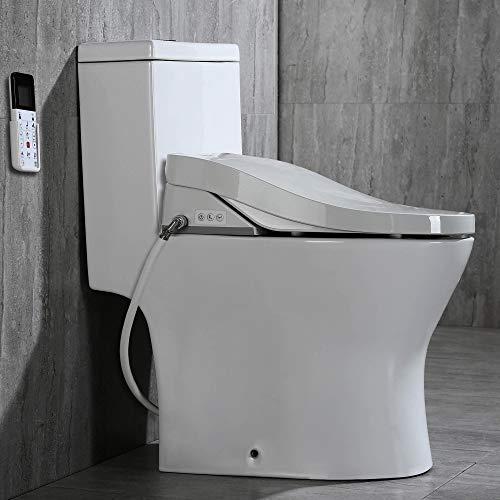 Woodbridge Luxury, Elongated One Piece Toilet with Advanced Bidet Seat, T-0022, White