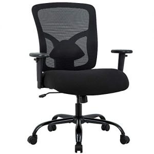 Big and Tall Office Chair 400lbs Desk Chair Mesh Computer Chair with Lumbar Support Wide Seat Adjust Arms Rolling Swivel High Back Task Executive Ergonomic Chair for Women Men,Black