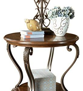 Signature Design by Ashley - Nestor Traditional End Table, Medium Brown