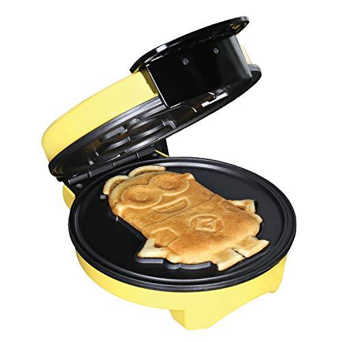 """Minions Waffle Maker - Electric Waffle Iron Kitchen Appliance -""""Dave"""" Yellow"""