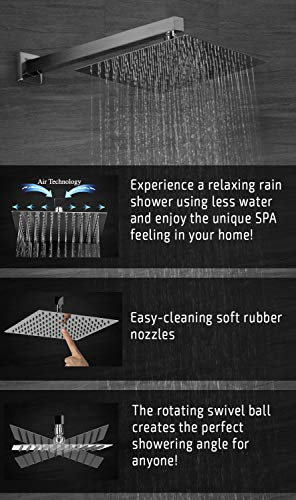 ROVESSA 10 Inches Rain Shower System Bathroom Luxury Mixer Shower Combo Set Model: ROVESSA