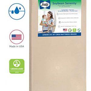 """Sealy Baby Soybean Serenity Foam-Core Waterproof Standard Toddler & Baby Crib Mattress - Hypoallergenic Soy Foam, 52"""" x 28"""""""