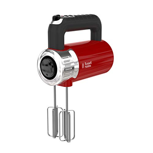 Remington Russell Hobbs MX3100RDR Retro Style Hand Mixer, 4 Speeds + Turbo Boost, Red