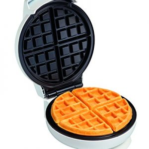 Proctor Silex Belgian Waffle Maker with Non-Stick Grids, Indicator Lights, Compact Design, White (26070)