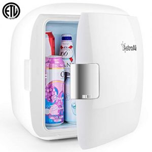 AstroAI Mini Fridge 12 Can Portable Electric Cooler and Warmer AC/DC for Bedroom, Food, Skincare, Breast Milk, Medications, Home Office and Travel (Father's Day Gifts)