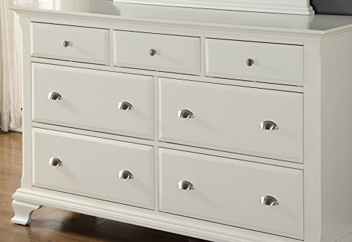 Roundhill Furniture Laveno White Wood Bedroom Furniture Set Package deal Dimensions: 88.zero x 66.zero x 57.zero inches