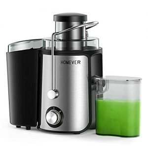 Homever Juicer for Fruits and Vegetables, Centrifugal Juicer with Juice Cup, Wide Mouth Juice Machine, BPA-Free Stainless Steel 2 High Speed Juicer, Easy to Clean, Dishwasher Safe, Anti-slip Function