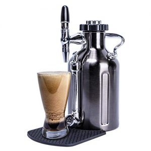 GrowlerWerks uKeg Nitro Cold Brew Coffee Maker, 50 oz, Black Chrome