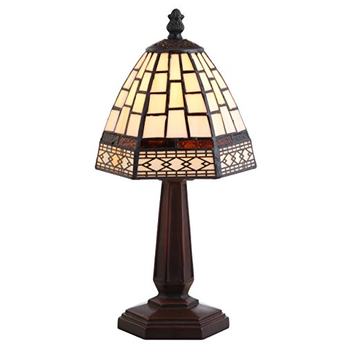 """JONATHAN Y JYL8016A Carter Style 12"""" LED Table Lamp, Tiffany, Traditional for Bedroom, Living Room, Office, Bronze"""