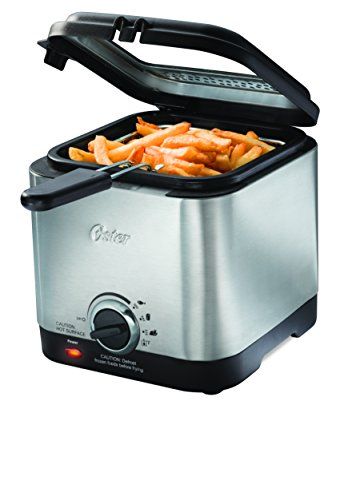 Oster Style Compact Deep Fryer, Stainless Steel