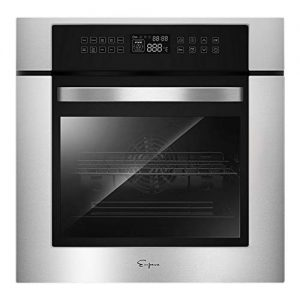 """Empava 24"""" 10 Cooking Functions W/ Rotisserie Electric LED Digital Display Touch Control Built-in Convection Single Wall Oven EMPV-24WOC02"""