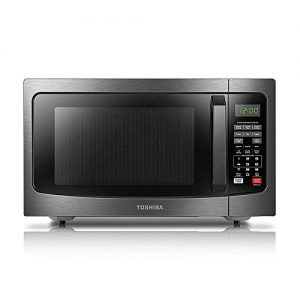 Toshiba EM131A5C-BS Microwave Oven with Smart Sensor, Easy Clean Interior, ECO Mode and Sound On/Off, 1.2 Cu.ft, 1100W, Black Stainless Steel (Renewed)