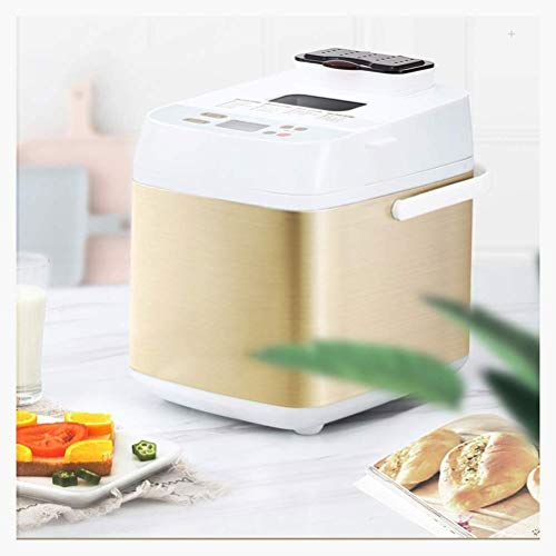220V Bread Maker Machine, Digital Bread Maker, Custom Breadmaker Homemade Bread Machine 19 Menus Gluten Free Whole Wheat Stainless Steel Bread Maker Bread Oven Home Bakery Menu Set 500W, White
