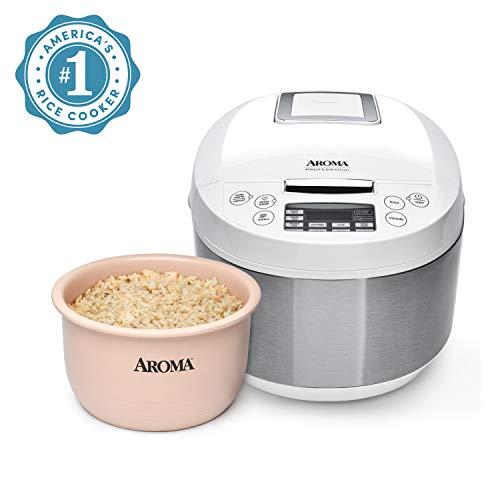 Aroma Housewares ARC-6206C Ceramic Rice Cooker/Multicooker, White