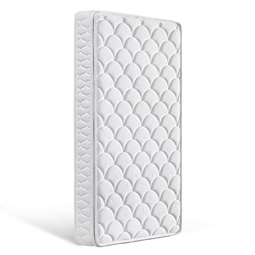 """Bubble bear Crib Baby Mattress for Baby & Toddler with Breathable Removable Knitted Fabric Cover, Washable Outer Covers (White, 52"""" x 28""""x 5"""")"""