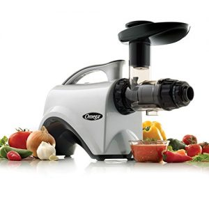 Omega NC800HDS Juicer Extractor and Nutrition Center Creates Fruit Vegetable and Wheatgrass Juice Quiet Motor Slow Masticating Dual-Stage Extr, 150-Watt, Silver