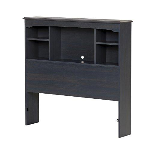 South Shore Aviron Bookcase Headboard-Twin-Blueberry
