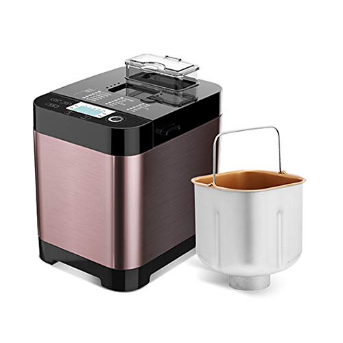 Programmable Bread Maker Full Automatic Stainless Steel Bread Machine, with 18 Programs 3 Crust Colors 13-Hour Delay Timer Heat Preservation Function