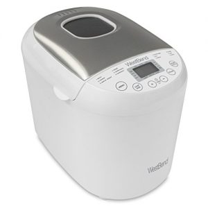 West Bend Programmable Hi-Rise Bread Maker with 12 Programs Including Gluten Free, 2-Pound, White
