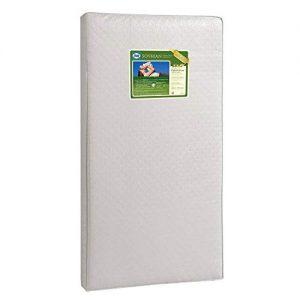 "Sealy Baby Soybean Foam-Core Waterproof Standard Toddler & Baby Crib Mattress – Lightweight Hypoallergenic Soy Foam, Design Pattern May Vary, 51.63"" x 27.25"""