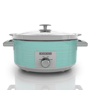 BLACK+DECKER SC2007D Slow Cooker, 7 quart, Teal Wave
