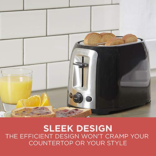 BLACK+DECKER 2-Slice Extra Wide Slot Toaster, Classic Oval, Black Guarantee: 2 12 months restricted