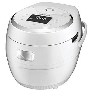 Cuckoo 10-cup Multifunctional Micom Rice Cooker and Warmer – 16 built-in programs including White rice, Mixed rice, GABA rice, Thin Porridge, Thick Porridge, Scorched rice, Soup, Soy Milk, Yogurt, Baby Food, Slow Cook, Multi Cook, Turbo, Warm, Reheat and
