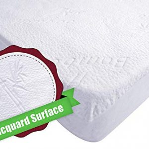 iLuvBamboo Crib Mattress Pad Protector - Waterproof Cover – Silky Soft Bamboo Jacquard Fitted Topper - Noiseless, Breathable & Smooth – Best Baby Gifts for Potty Training Toddlers & Infants