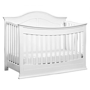 DaVinci Meadow 4-in-1 Convertible Crib with Toddler Bed Conversion Kit in White, Greenguard Gold Certified