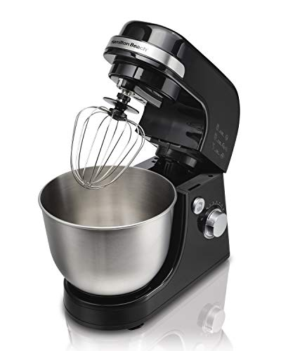 Hamilton Beach Electric Stand Mixer, 4 Quart Stainless Bowl Package deal Dimensions: 13.1 x 8.5 x 13.zero inches