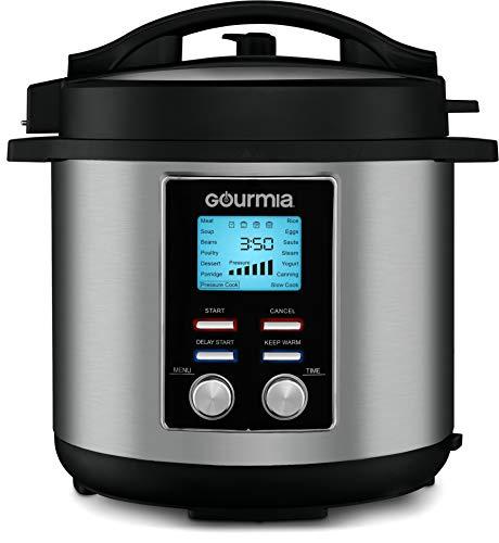 Gourmia GPC855 8 Qt Digital SmartPot Multi-Function Pressure Cooker - 15 Cook Modes - Removable Nonstick Pot - 24-Hour Delay Timer - Automatic Keep Warm - LCD Display - Pressure Sensor Lid Lock