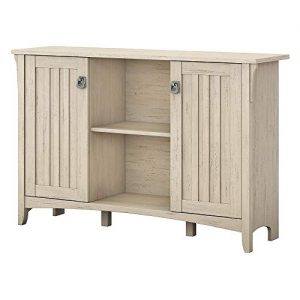 Bush Furniture Salinas Accent Storage Cabinet with Doors in Antique White