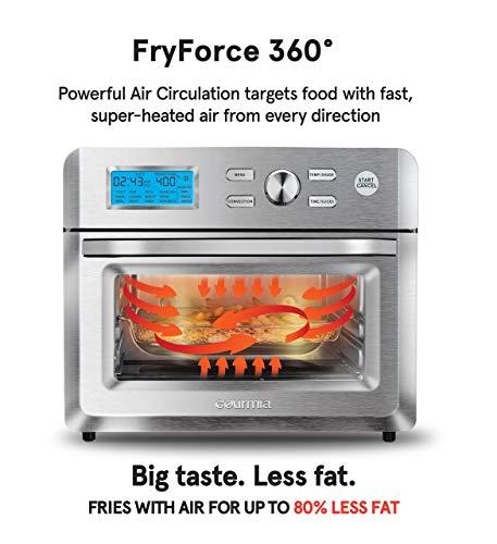 Gourmia electric Air Fryer Oven, 16, silver Gourmia TO5712TA-UL electric Air Fryer Oven, 16, silver.