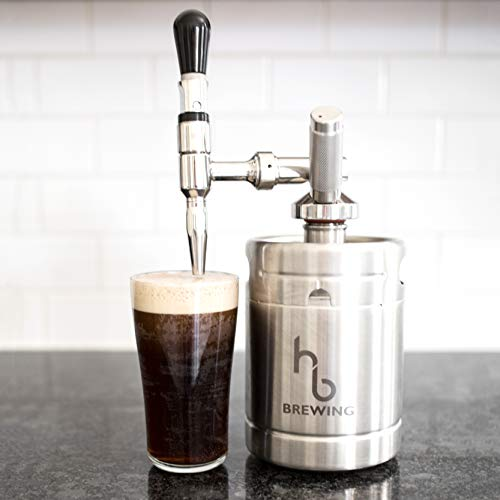 HB Brewing Nitro Cold Brew Coffee Maker – At Home Mini Keg Dispensing System - Home Brew Kit