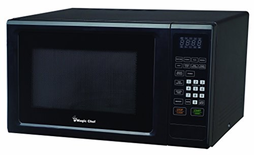 Magic Chef Black 1.1 Cu. Ft. 1000W Countertop Microwave Oven with Push-Button Door