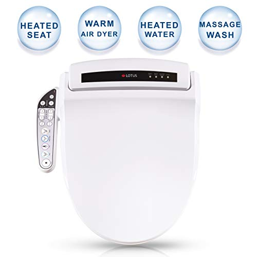 Lotus Smart Bidet ATS-908 FDA Registered, Purestream Function(Constipation Relief) Heated Seat, Temperature Controlled Wash, Warm Air Dryer, Easy DIY Installation, Made in Korea