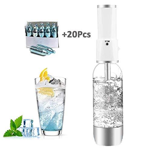 HXZB Portable Soda Maker Crystal Sparkling Water Maker Use Standard CO2 Cylinder for DIY Beverages Bubble Fruit Juice Cocktail Healthy Drinks
