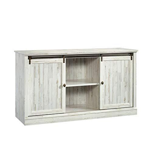 "Sauder Barrister Lane Credenza, for TVs up to 60"", White Plank"