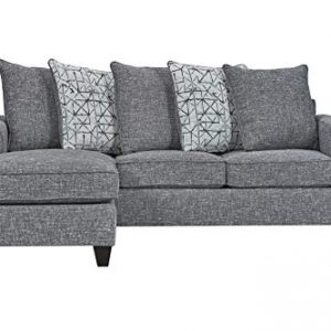 "Ready To Live 57th Street Sofa Sectional, 81"", Charcoal"