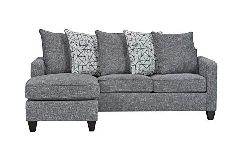 """Ready To Live 57th Street Sofa Sectional, 81"""", Charcoal"""