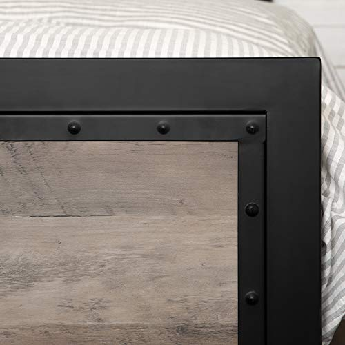 Walker Edison Furniture Company Rustic Farmhouse Wood Queen Metal Guarantee: 30 day restricted producer guarantee.