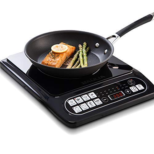 Baulia SB817 1500-watt Electric Countertop Burner Portable Induction Cooker for Fast Cooking, Precise Digital Temperature Control + 4 Hour Timer, 1500W, Black
