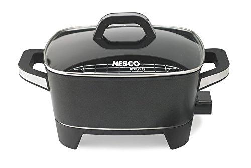 NESCO ES-12, Extra Deep Electric Skillet, Black, 12 inch, 1500 watts (Renewed)