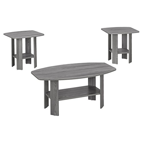 Monarch 3 Piece Table Set, Grey