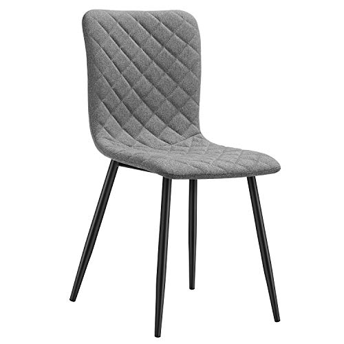 Kealive Dining Chair Side Chair Fabric Kitchen Dining Chair Comfy and Mid Century Style for Kitchen, Dining, Living Room Chair with Sturdy Metal Legs Easy Assemble