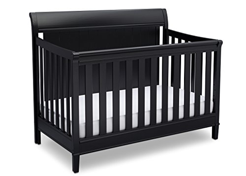 Delta Children New Haven 4-in-1 Convertible Baby Crib, Ebony